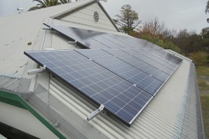 Newstead Community Centre's new 20-panel solar system